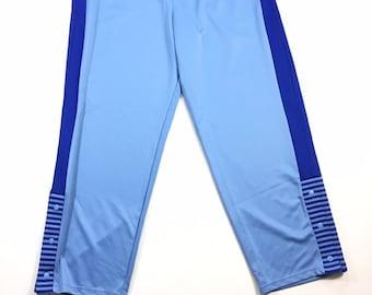 Rare Vintage Los Angeles LA Lakers NBA Majestic Hardwood Classics Throwback Blue Warm Up Track Pants 2XL, Vintage La Lakers Blue Track Pants