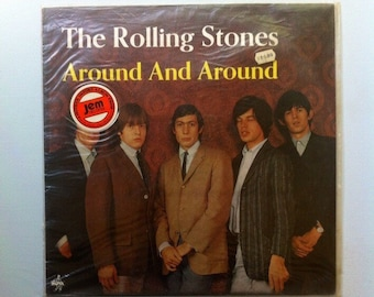 Around and Around - The Rolling Stones Vintage Vinyl Record, Rolling Stones Album, Rolling Stones Vinyl, Rolling Stones Record, Rock Vinyl