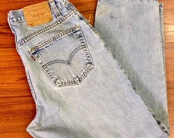 90s Vintage Levis 560 Jeans 34 x 30, Stone Wash Levis, High Waisted Levis, Loose Fit Levis, Tapered Leg Levis, 90s Vintage Mom Jeans 12/14