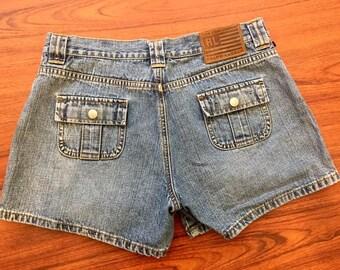 90s Vintage Ralph Lauren Polo Jean Shorts Size 6, Jean Shorts Women, Polo Jeans, Polo Jean Shorts, Ralph Lauren Shorts, Ralph Lauren Denim