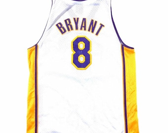 Y2K Vintage NIKE Kobe Bryant #8 Los Angeles LA Lakers Swingman Jersey White XL +2, Vintage Nike Los Angeles Lakers Sunday White Kobe Jersey