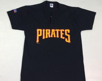Vintage 1990's Pirates MLB Jersey Russle Athletic Shirt Jersey Medium