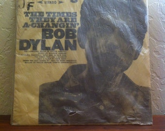 "Bob Dylan - The Times They are A-Changin' Rare Taiwan Pressing CSJ-101 Red Orange Colored Vinyl Record Album LP 33 RPM 12"", Folk Rock Vinyl"