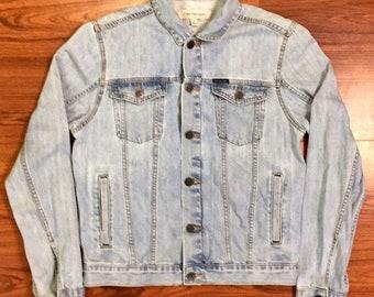 Vintage Calvin Klein Jean Jacket Med, Calvin Klein Denim Jacket, Vintage Grunge Biker Jacket, Vintage Clavin Klein, Vintage CK Jean Jacket M
