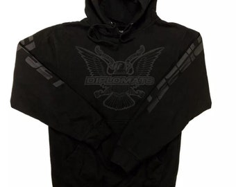 Y2K 2000s Vintage Original (Dipset) DIPLOMATS Harlem World Big Logo Official Merch Hoodie Pullover Sweatshirt Small, Rap Shirt, Rap Tee