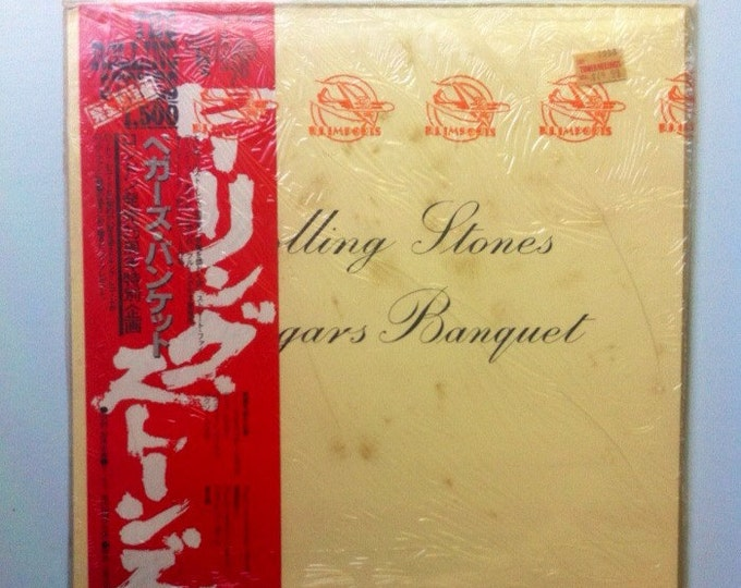 Featured listing image: The Rolling Stones - Beggars Banquet, Imported Sealed Vinyl Record, Rolling Stones Record, Rolling Stones Vinyl Record, Rock Vinyl Record