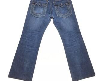 NWT Y2K Vintage True Religion Jeans Billy Super T Bootleg Size 32