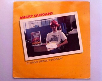 "Angry Samoans - Yesterday Started Tomorrow Vintage 12"" Vinyl Record Album LP 33 RPM, Rare Yellow Vinyl Record, 80s Punk Vinyl Record Album"