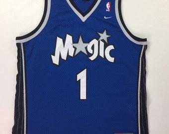 Y2k Vintage Orlando Magic Tracy McGrady #1 NBA Nike Jersey Xl, Vintage Orlando Magic Authentic Nike Jersey Xl, Y2k Vintage Nike Jersey Xl