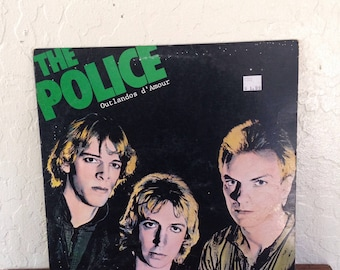 "The Police - Outlandos D amour Vintage 12"" Vinyl Record Album LP 33 RPM, Rock Vinyl Record, Pop Rock Vinyl Record, New Wave Vinyl Record"