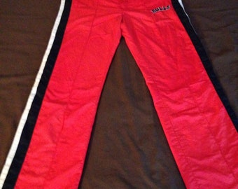 90s Vintage Chicago Bulls Starter Tear Away Track Pants, Sweat Pants, Warm Up pants, Athletic Pants, 90s Hip Hop Clothing, Windbreaker Pants