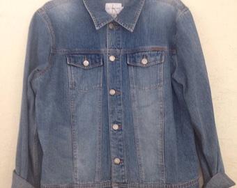 90s Vintage Calvin Klein CK Jean Jacket, Calvin Klein Denim Jacket, 90s Calvin Klein, Vintage Clavin Klein Jeans, 90s Calvin Klein Jacket