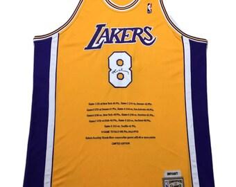 Y2K Vintage Mitchell & Ness Limited Edition Kobe Bryant #8 Los Angeles LA Lakers Swingman Jersey, Vintage Los Angeles Lakers Kobe Jersey 54