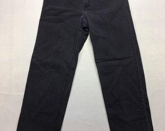 Y2K Vintage The Limited Faded Black Denim High Waist Straight Leg Jeans 12, Vintage Faded Black Jeans, Vintage Mom Jeans, High Waist Jeans