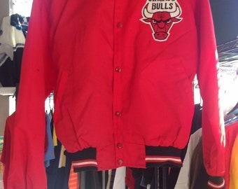 90s Vintage Chicago Bulls Starter Jacket, Starter Jacket, Jordan Jacket, 90s Hip Hop Clothing, Chicago Bulls, Bulls Starter Jacket, Jordan