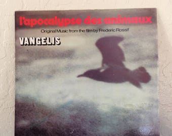Vangelis-L'Apocalypse Des Animaux Vintage Vinyl Record Album LP, Soundtrack Record, Vinyl Records Sale, Soundtrack Albums, Film Score Vinyl
