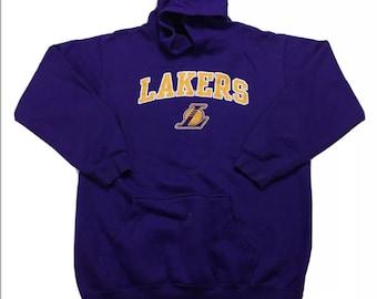 Rare Vintage Los Angeles LA Lakers Kobe Bryant Purple Hoodie Sweatshirt S, Vintage Lakers Sweatshirt Small, LA Lakers Kobe Sweatshirt Small