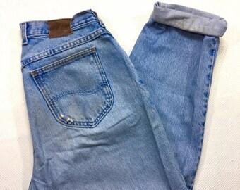 """90s Vintage Lee Denim Jeans 30"""", 90s Vintage Lee Mom Jeans 30"""", 90s High Waisted Mom Jeans 10, 90s Hip Hop Fashion, 90s Grunge Denim Jeans"""