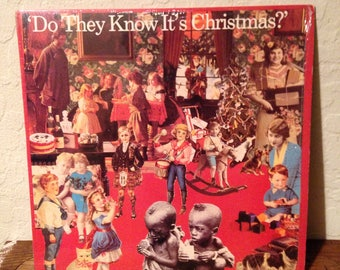 Band Aid - Do They Know Its Christmas Vintage Vinyl Record Album LP, 80s Record, 80s Vinyl, Band Aid Record, Band Aid Album, Band Aid Vinyl