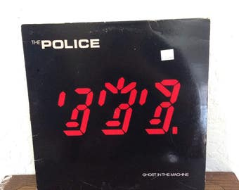 "The - Police - Ghost in the Machine Vintage 12"" Vinyl Record Album LP 33 RPM, Rock Vinyl Record, 80s New Wave Vinyl Record, Sting Record"