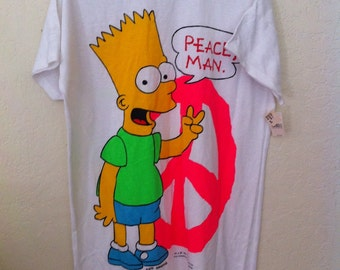 Vintage Bart Simpson Tee Shirt, The Simpsons, 90s Bart Simpsons, 90s Simpsons Shirt, Bart Simpson Shirt, Vintage The Simpsons Graphic Tee