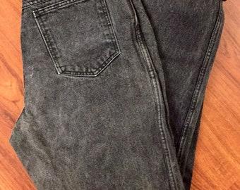 90s Vintage RIO Faded Black High Waisted Denim Mom Jeans, 90s Faded black Jeans, 90s High Waisted Mom Jeans, 90s Hip Hop Fashion