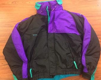 VTG Columbia Winter SKi Jacket Color Block Criterion SZ XL 90's 3 in 1 Coat