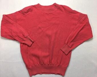 90s Vintage Liz Wear Petites Pink Pull Over Sweater Petite, 90s Vintage Pink Sweater S, Oversized Sweater, Vintage Shoulder Pads Sweater S