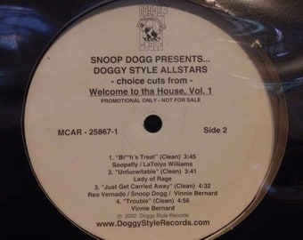Snoop Dogg Presents Doggy Style AllStars - Welcome to the House vol.1, Vintage Hip Hop Vinyl Record, 90s Vintage Hip Hop, Old School Hip Hop