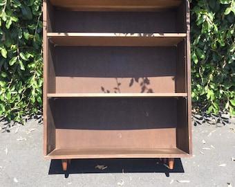 Mid Century Danish Modern Bookshelf, Mid Century Book Case, Vintage Dark Walnut Book Shelves, Mid Modern Bookcase, Mid Century Modern Office