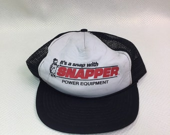 Vintage 80's 90's Snapper Lawnmower Turtle Trucker Dad Hat