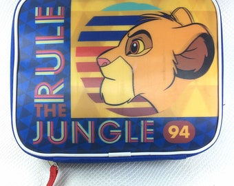 90s Vintage Disney Lion King Lunch Bag, Simba Rule The Jungle 94' Insulated Lunch Bag, 90s Vintage Lion King Lunch Box, Disneys Lion King