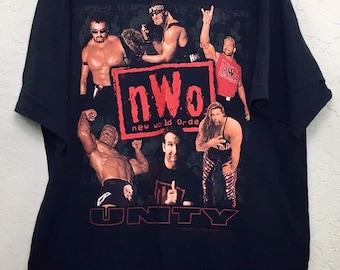 90s Vintage NWO Unity WWE Graphic Tee Shirt, 90s Wrestling Graphic Tee Shirt, Vintage Wrestling Tee Shirt, 90s Hulk Hollywood Hogan T Shirt