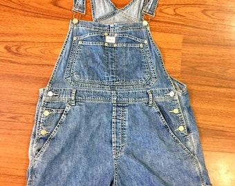90s Vintage Calvin Klein Jeans Denim Shorts Overalls, Vintage Overall Shorts Women, Denim Overall Shorts, Vintage Calvin Klein, 90s Overalls