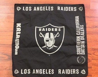 Vintage Los Angeles Raiders handkerchief Towel Datsun KRLA AM