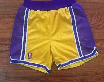 Vintage 90's youth large LA Lakers NBA shorts youth large
