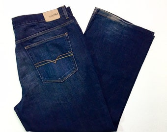 90s Vintage Anchor Blue Baggy Dark Wash Denim 90s Skater Streetwear Jeans Mens 42X32, Baggy Jeans 42, Skater Jeans 42, 90s Mens Streetwear