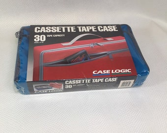 NOS Vintage case logic 30 Cassette Tape Storage Box, Cassette Tape Storage Box, Audio Cassette Tape Organizer Storage Box