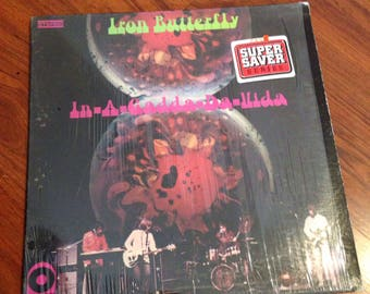 "Iron Butterfly - In a Gadda Da Vida 12"" Vintage Vinyl Record Album LP 33 RPM, Rock Vinyl Record, Rock Album LP, 60's Vinyl, Psychedelic Rock"