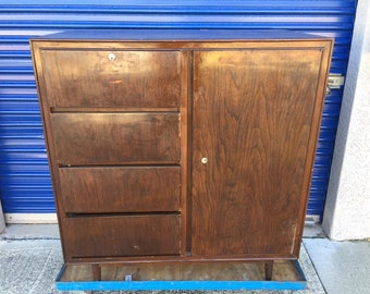 Mid Century Chinoiserie Modern Dresser Armoire Chest of Drawers, Rare Chinese Cabinet