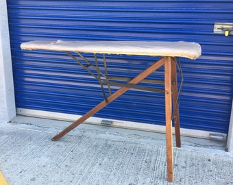 Antique wood ironing board , vintage wood ironing board