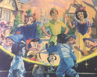 """Disney """"A child's fantasy come true"""" lithograph.Limited Edition Poster by Charles Boyer #3590/3750"""