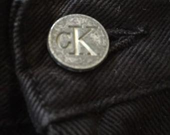 90s Vintage Black Calvin Klein Jeans High Waisted Boot Leg Size 8, Black Calvin Klein Denim Jeans, High Waisted Jeans, Vintage Calvin Klein