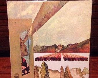 "Stevie Wonder - Innervisions Vintage Vinyl Record, Vinyl Records Sale, 12"" Vinyl, 12"" Record, 12"" LP, Soul Record, R&B Vinyl"