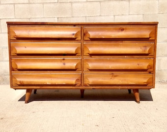 Mid Century Modern (MCM) Sculptural 8 Drawer Double Dresser by Franklin Shockey Company