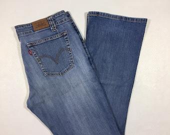 Y2K Vintage Levis 525 Low Rise Boot Cut Jeans 10, Boot Cut Levis, Flare Leg Levis, Low Rise Levis Jeans, Early 2000s Low Rise Levis Jeans 10