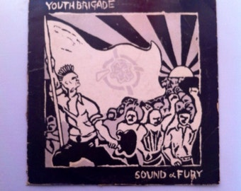 Youth Brigade - Sound and Fury Vintage Punk Rock Vinyl Record Album LP 33 RPM, Hardcore Punk Vinyl, Punk Rock Record, 80s Punk Vinyl Record