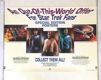 Vintage Star Trek USPS promotional poster collector posters advertisement