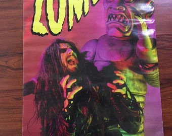 Vintage 90's Rob Zombie Poster Robots 23x33""