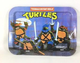 Mirage 1988 Teenage Mutant Ninja Turtles Dinner Folding TV Tray, Rolling Tray, 420 rolling tray